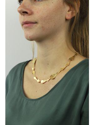 18 Kt vergulde zilveren ONNO ketting | K0175PL | thumbnail image