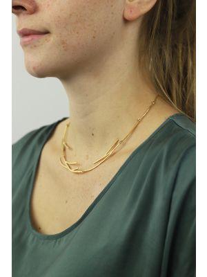 18 Kt vergulde zilveren ONNO ketting | K0216PL | thumbnail image