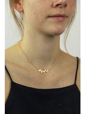 18 Kt vergulde zilveren ONNO ketting | K0291PL | thumbnail image