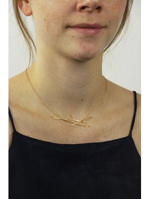 18 Kt vergulde zilveren ONNO ketting | K0293PL | thumbnail image
