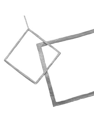 Zilveren ONNO ketting met rhodium  | K0307RH | Base image