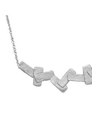Zilveren ONNO ketting met rhodium  | K0316RH | Base image
