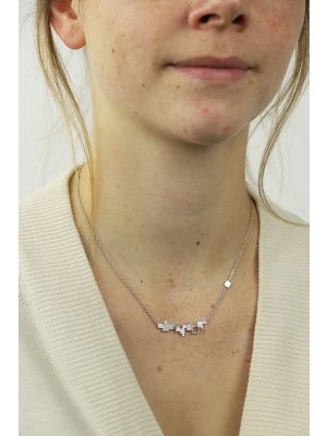 Zilveren ONNO ketting met rhodium  | k0320RH | Base image