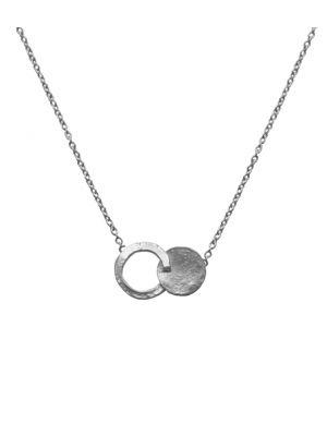 Zilveren ONNO ketting met rhodium  | K0333RH