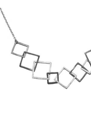 Zilveren ONNO ketting  | K0334
