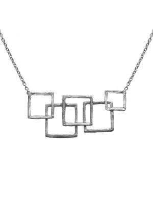 Zilveren ONNO ketting  | K0335