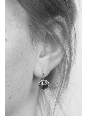 Zilveren ONNO oorhaak | OH0041SRH | thumbnail image