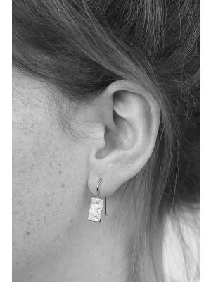 Zilveren ONNO oorhaak met rhodium | OH0137RH | Base image