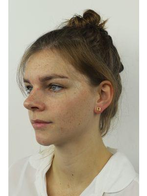 18 Kt vergulde zilveren ONNO oorsteker   OS0002PL   thumbnail image