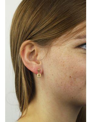 18 Kt vergulde zilveren ONNO oorsteker   OS0005PL   thumbnail image