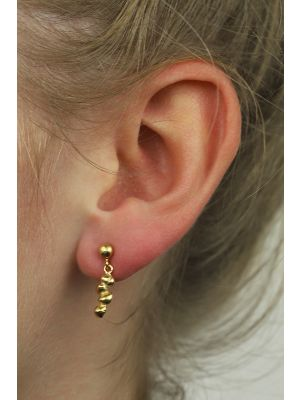 18 Kt vergulde zilveren ONNO oorsteker   OS0015PL   thumbnail image