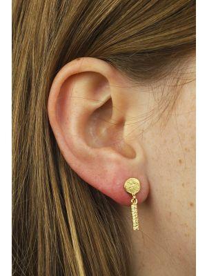18 Kt vergulde zilveren ONNO oorsteker   OS0017PL   thumbnail image
