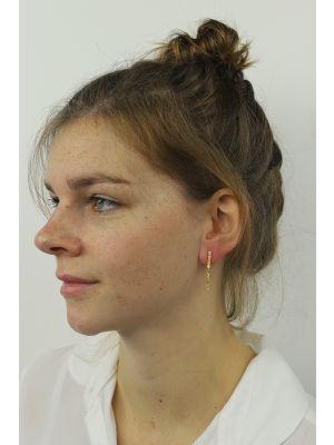 18 Kt vergulde zilveren ONNO oorsteker   OS0036PL   thumbnail image