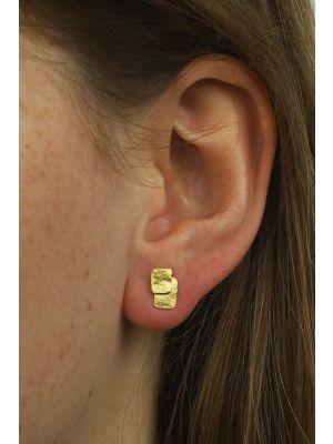 18 Kt vergulde zilveren ONNO oorsteker | OS0054PL | thumbnail image