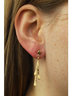 18 Kt vergulde zilveren ONNO oorsteker | OS0074PL | thumbnail image