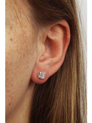 Zilveren ONNO oorsteker | OS0078RH | thumbnail image