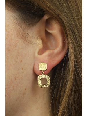 18 Kt vergulde zilveren ONNO oorsteker | OS0127PL | thumbnail image