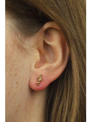 18 Kt vergulde zilveren ONNO oorsteker | OS0177PL | thumbnail image