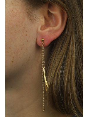 18 Kt gouden ONNO oorsteker | OS0182AUG | thumbnail image