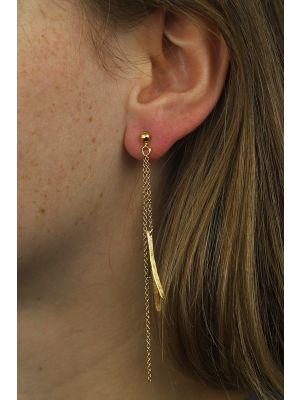 18 Kt vergulde zilveren ONNO oorsteker | OS0182PL | thumbnail image