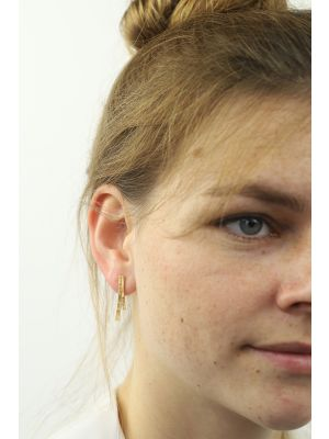 18 Kt vergulde zilveren ONNO oorsteker | OS0246PL | thumbnail image