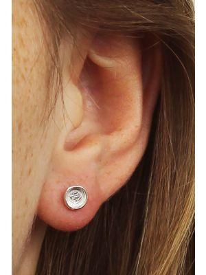 Zilveren ONNO oorsteker | OS0256RH | thumbnail image