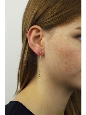 18 Kt vergulde zilveren ONNO oorsteker | OS0264PL | thumbnail image