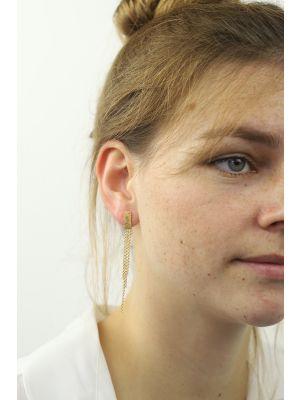 18 Kt vergulde zilveren ONNO oorsteker | OS0265PL | thumbnail image