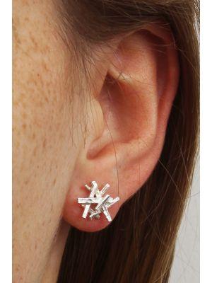 Zilveren ONNO oorsteker | OS0284RH | thumbnail image