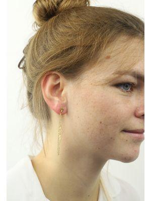 18 Kt gouden ONNO oorsteker | OS0289AUG | thumbnail image