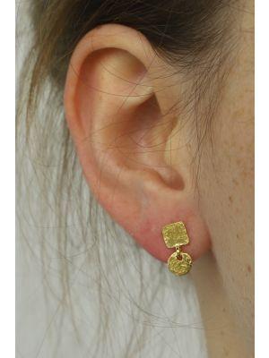 18 Kt vergulde zilveren ONNO oorsteker | OS0298PL | thumbnail image