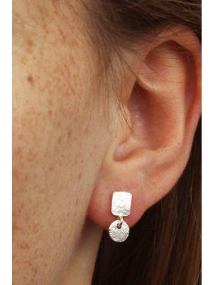 Zilveren ONNO oorsteker | OS0298RH | thumbnail image