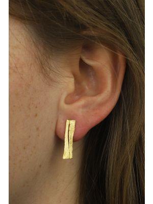 18 Kt vergulde zilveren ONNO oorsteker | OS0309PL | thumbnail image