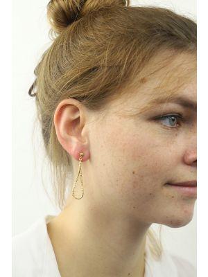 18 Kt vergulde zilveren ONNO oorsteker | OS0328PL | thumbnail image