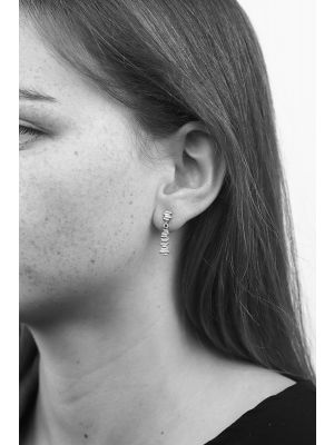 Zilveren ONNO oorsteker | OS0345RH | thumbnail image