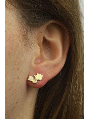 18 Kt vergulde zilveren ONNO oorsteker | OS0349PL | thumbnail image