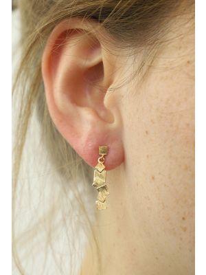 18 Kt vergulde zilveren ONNO oorsteker | OS0363PL | thumbnail image