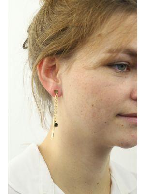 18 Kt vergulde zilveren ONNO oorsteker | OS0367BPL | thumbnail image
