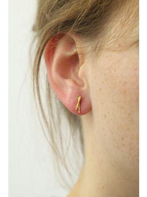 18 Kt vergulde zilveren ONNO oorsteker | OS0380PL | thumbnail image