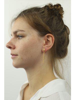 18 Kt vergulde zilveren ONNO oorsteker | OS0386PL | thumbnail image