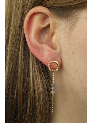 18 Kt vergulde zilveren ONNO oorsteker | OS0395LPL | Base image