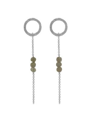 Zilveren ONNO oorsteker met rhodium | OS0395LRH | Base image