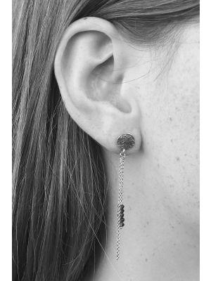 Zilveren ONNO oorsteker met rhodium | OS0398SRH | Base image