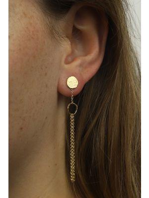 18 Kt vergulde zilveren ONNO oorsteker | OS0401PL | Base image