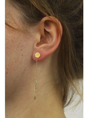 18 Kt vergulde zilveren ONNO oorsteker | OS0402PL | Base image