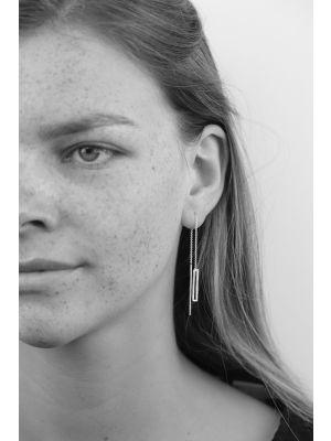 Zilveren ONNO oorsteker met rhodium | OS0404RH | Base image