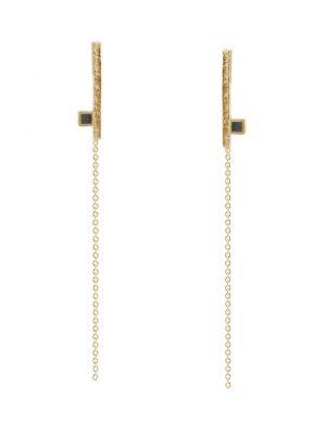 18 Kt vergulde zilveren ONNO oorsteker | OS0407PL | Base image