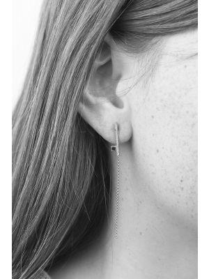 Zilveren ONNO oorsteker met rhodium | OS0407RH | Base image