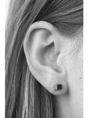 Zilveren ONNO oorsteker met rhodium | OS0410RH | Base image