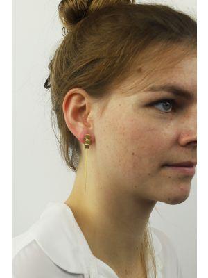 18 Kt vergulde zilveren ONNO oorsteker | OS0413PL | Base image